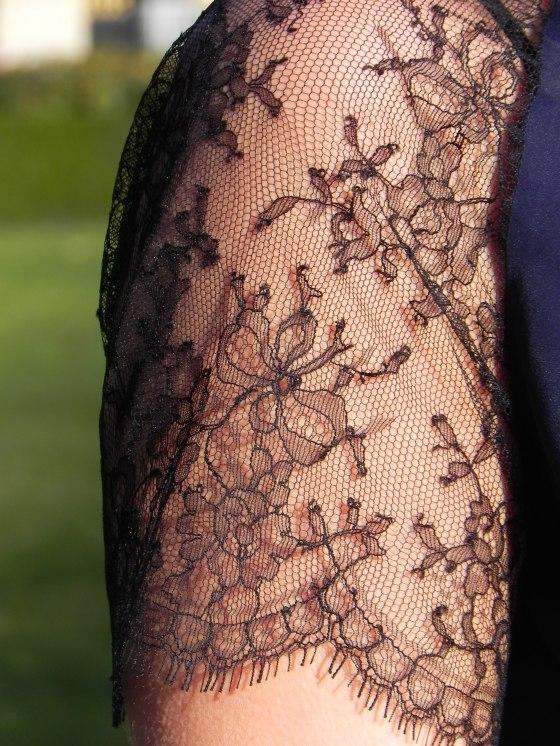 Lorafolk dress, lace sleeves