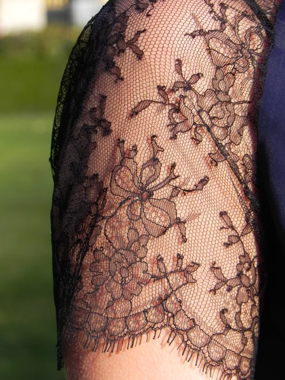 Lorafolk dress, lace sleeves