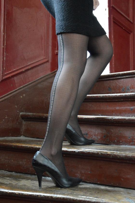 MINELLI Shoes - DIM tights - Vintage Dress